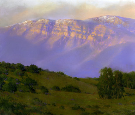 """Topa Topa Bluffs"" pastel on paper by Alberta"